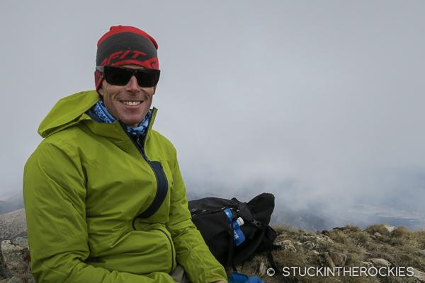 Ted Mahon on the summit of Cottonwood Peak