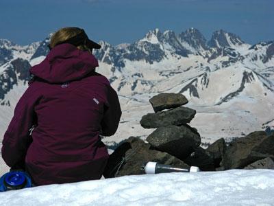 Christy Mahon on the summit of Rio Grande Pyramid