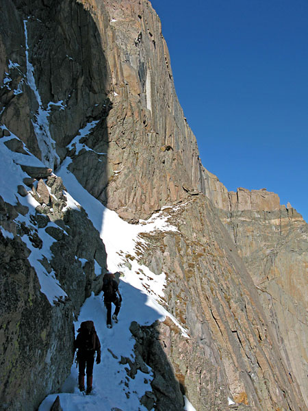 Broadway Ledges, Longs Peak.