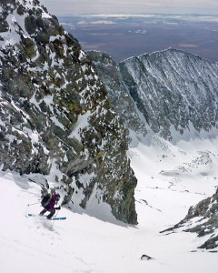 Christy Mahon finishs skiing all Colorado 14ers