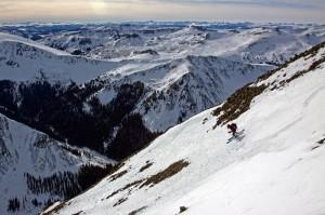 Christy Mahon san luis ski descent