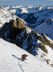 christy mahon skis the 14er mount sneffles
