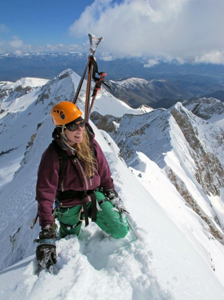 Christy Mahon,the 1st woman to ski all 54 Colorado 14ers