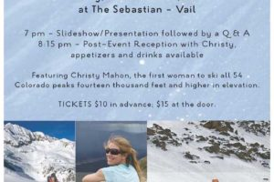 Christy Mahon's slideshow on being the 1st female to ski all the 14ers.