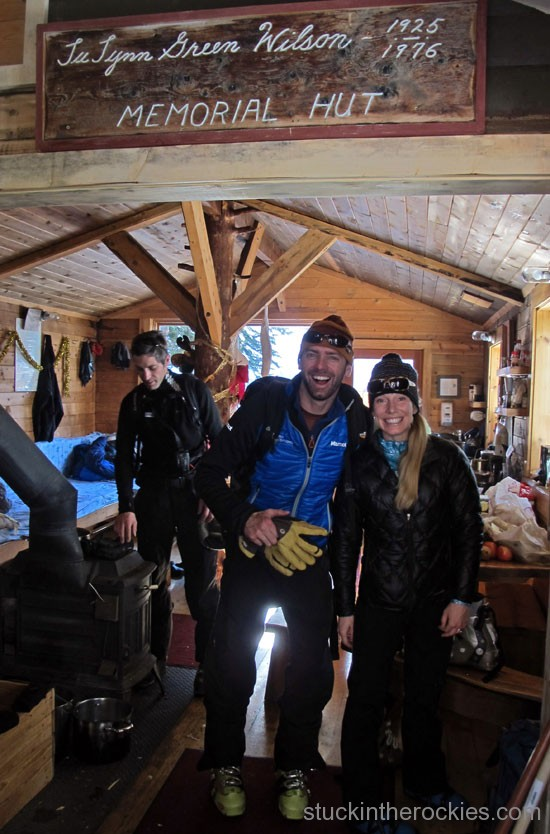 Dirk Bockelmann, Christy Mahon at the Green WIlson Hut