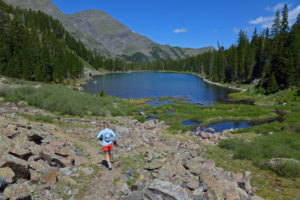 Cotton Lake and Sangre Summits
