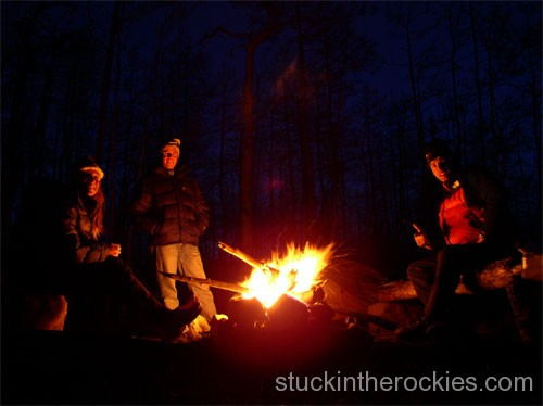 Sitting around the fire the night before, we filled Dirk in about our recent Haute Route ski trip.