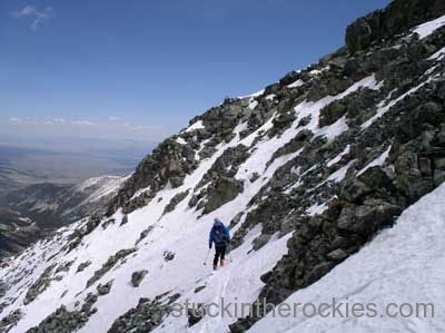 ski west face of blanca peak
