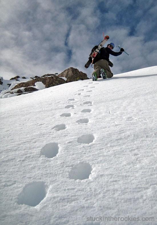 ski crestone peak, south couloir