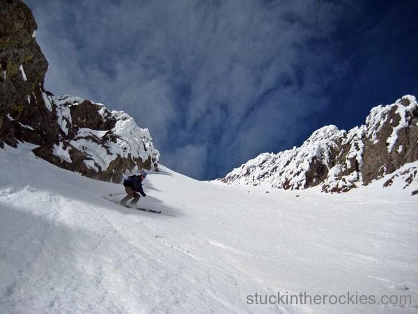 ski the sounth couloir of crestone peak