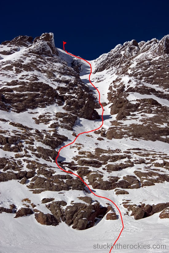 south couloir, crestone peak