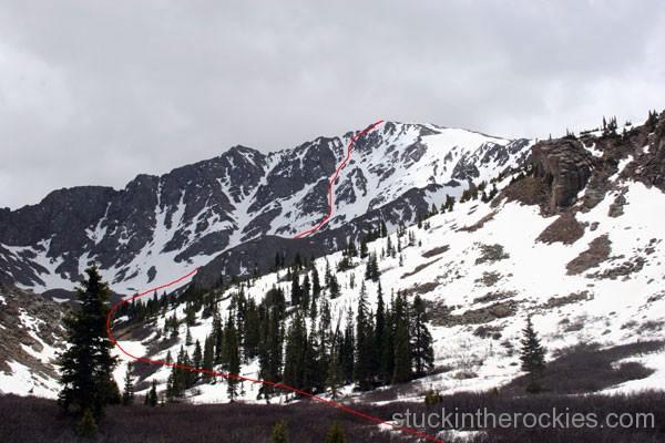 Skiing the North Face of La Plata Peak