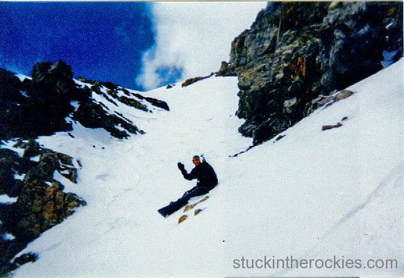 It wasn't bad snow once you were below the ridge and out of the wind. This was ski descent #2 for me.
