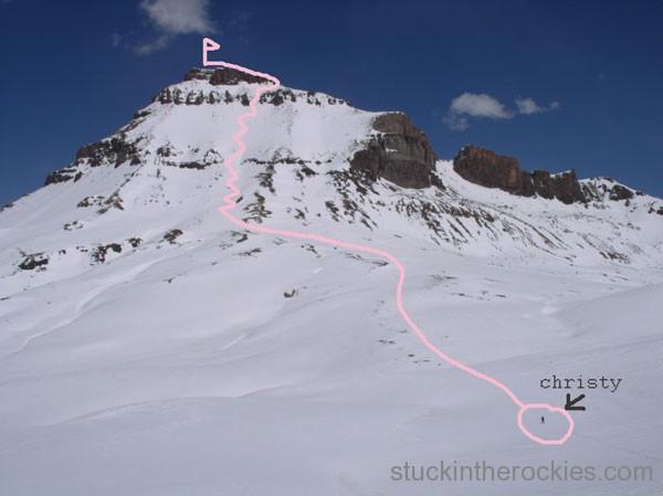 west face of uncompahgre peak