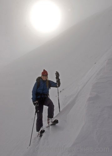 north couloir of castle peak