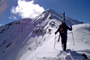 14er Ski Descents – Castle Peak – October 7, 2004