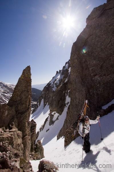 Kim Havell ski 14ers crestone needle