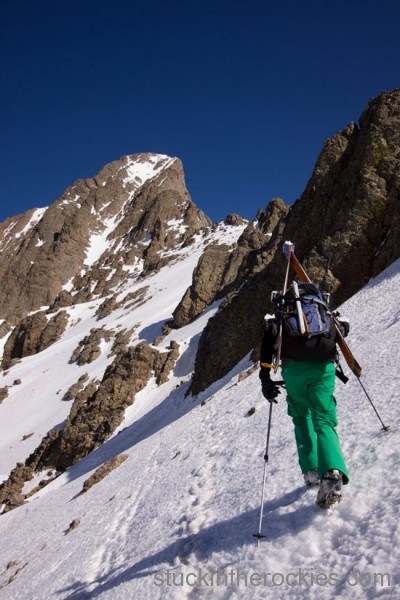 southeast couloir crestone needle christy mahon ski 14ers