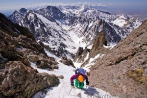 14er Ski Descents – Crestone Needle – May 9, 2009