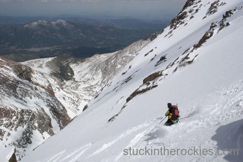 ski longs peak, chasm view
