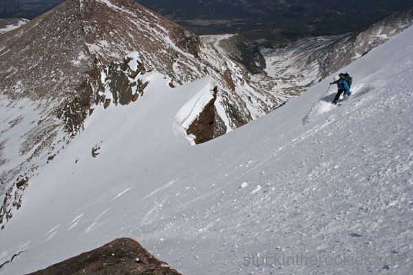 chrosty mahon ski 14er longs peak north face