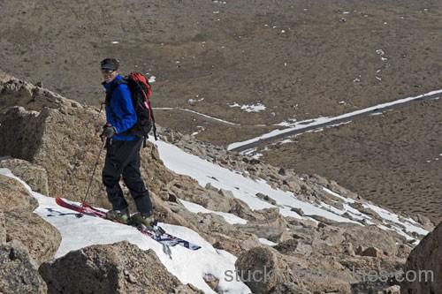 chris davenport ski 14ers mount evans