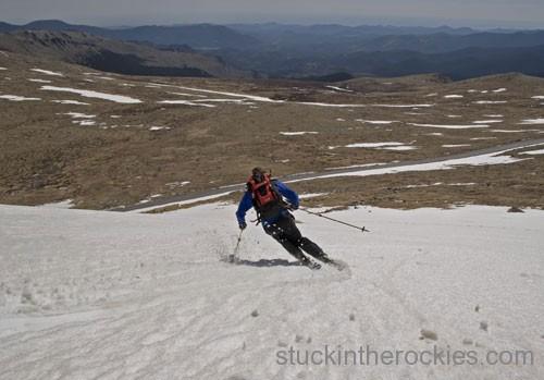 ski 14ers mount evans chris davenport