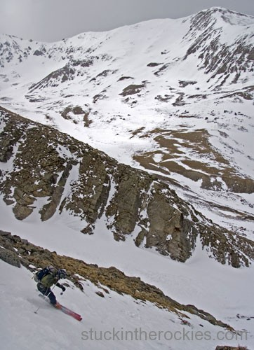 louie Dawson, mount Oxford, ski 14ers