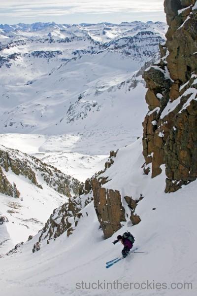 Ski mount sneffels lavendar col