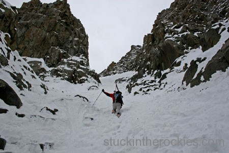 SKi the Snake Couloir
