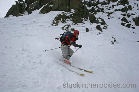 Ski Snake Couloir mount Sneffels