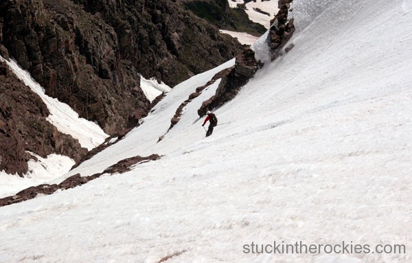 Neal beidleman ski the Bell Cord Couloir