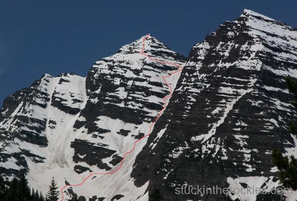 Ski south maroon peak