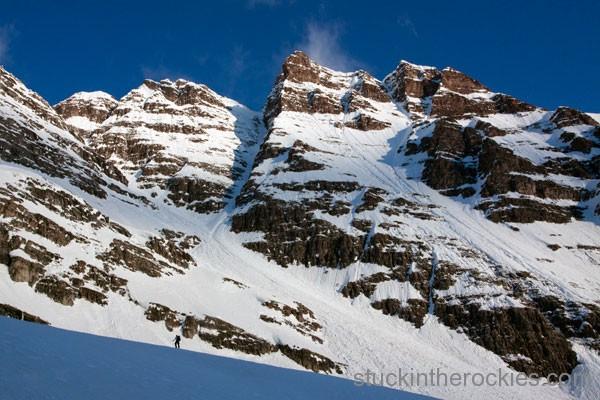 Y couloir of south maroon peak