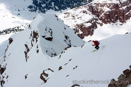 ski southwest couloir of south maroon