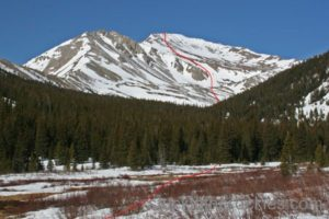 14er Ski Descents – Mount Yale – April 19, 2005