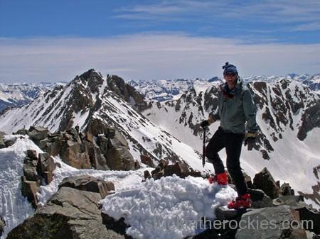 El diente summit, ski san juan 14ers