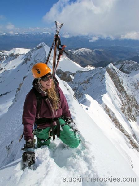 christy mahon ski 14ers ski capitol peak