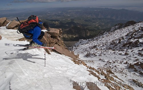 ski Y couloir pikes peak chris davenport