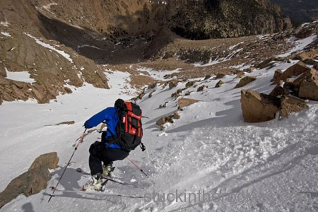 chris davenport ski 14ers pikes peak y couloir