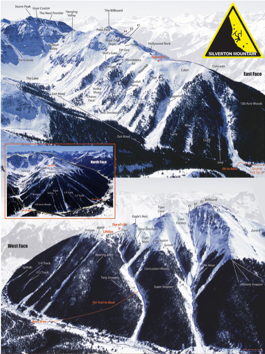 silverton mountain map