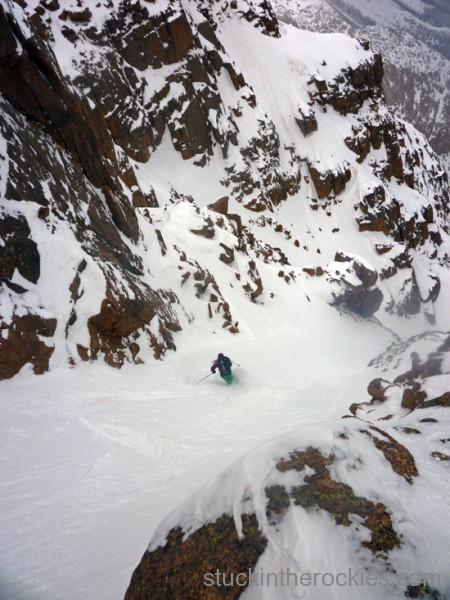 Christy Mahon ski pikes peak y couoir