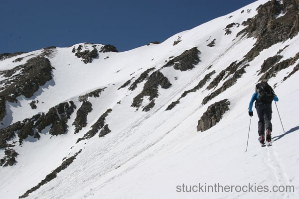 Ski Missouri mountain, sawatch 14er sking