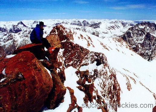 ski mount eolus, ted mahon, ski 14ers