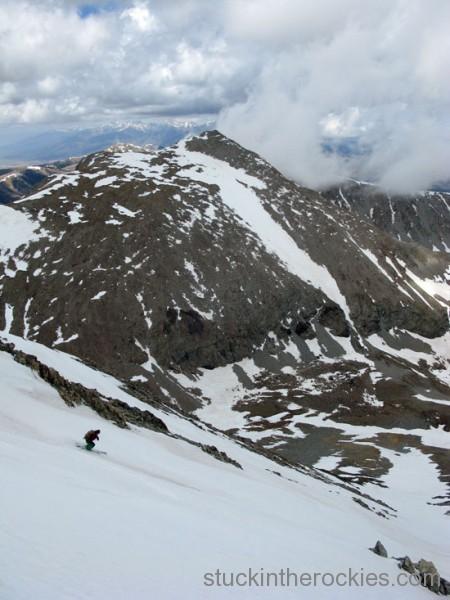 mount lindsey ski, ski 14ers, huerfano