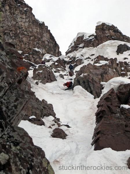 ski 14ers, fourteeners, landry route, pyramid peak