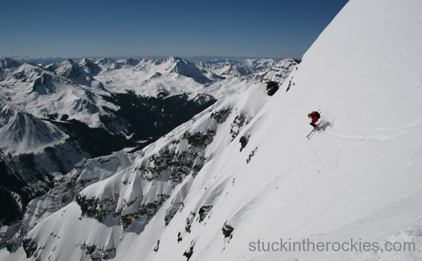 oute, ski 14ers, Pyramid Peak