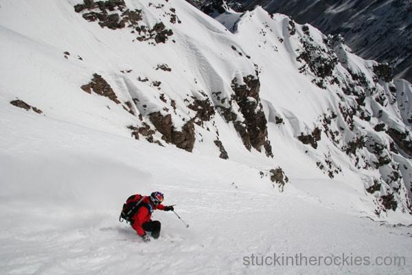 Chris Davenport, Landry Route, ski 14ers, Pyramid Peak