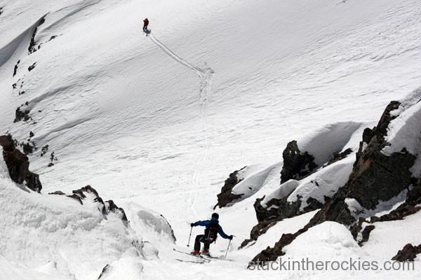 oute, ski 14ers, Pyramid Peak, neal beidleman