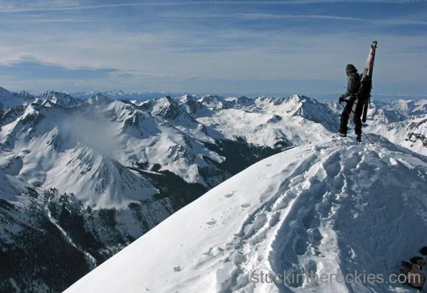 ski 14ers, pyramid peak, landry route, glen poulsen